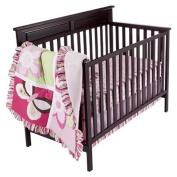Tiddliwinks Raspberry Garden 3pc Crib Bedding Set
