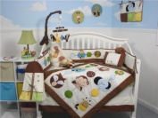 SoHo Forest Buddy Baby Crib Nursery Bedding Set 13 pcs included Nappy Bag with Changing Pad & Bottle Case