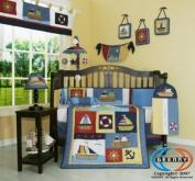 Boutique Brand New GEENNY Boy Sailor 13PCS Baby Nursery CRIB BEDDING SET