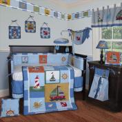 Custom Baby Bedding -Sail Away 13 PCS Crib Bedding