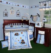 Custom Baby Bedding - Turtle Parade 13 PCS Crib Bedding