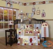 Boutique Brand New GEENNY Baby Boy FireTruck 13PCS CRIB BEDDING SET