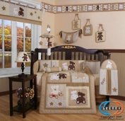 Boutique Baby Teddy Bear 13PCS CRIB BEDDING SET By GEENNY Designs
