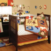 Jungle 123 8 Piece Baby Crib Bedding Set by Kidsline