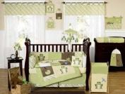 Yellow and Green Leap Frog Baby Boy Girl unisex Bedding 9pc Crib Set