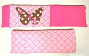 Bacati Butterflies Pink/chocolate Bumper Pad