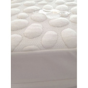 My Little Nest Pebbletex Natural Tencel Quilted Waterproof Mattress Pad, Crib