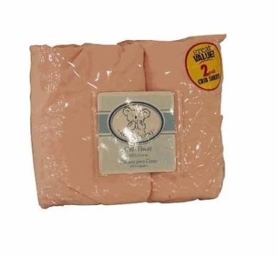 Koala Baby Crib Sheet 2-Pack - Solid colours (Pink)