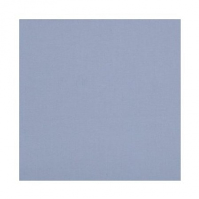 Bacati - Solid Blue Percale Crib fitted sheet