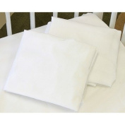 LA Baby Fitted Sheet for Full Size Crib, White