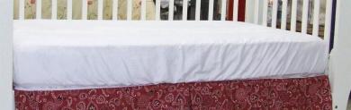 Crib Sheet 100% Cotton Snug Fitting 28x52 Colour: White
