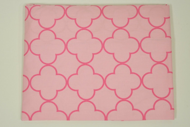 Bacati Butterflies Quadrafoile Printed Pink Crib Fitted Sheet