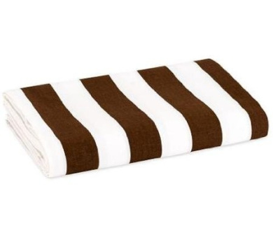 Stripes Percale Crib Fitted Sheet in White and Chocolate