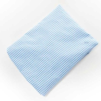 Starlight Blue Gingham Fitted Sheet