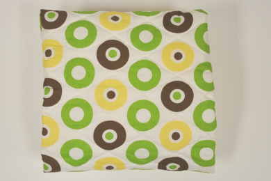 Bacati Mod Dots/Strps Green Quilted Sheet