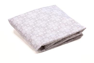 bloom Alma Papa Lollipop Fitted Sheet Set in Frost Grey