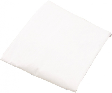 LA Baby Poly Cotton Fitted Sheet for Full Size Crib, White