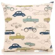 Sweet Potato by Glenna Jean Uptown Traffic Pillow - Cars