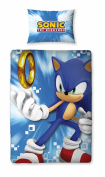 Sonic the Hedgehog 'Spin' Panel Single Bed Duvet Quilt Cover Set