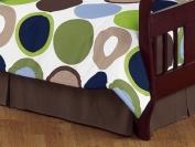 Designer Dot Modern Bed Skirt for Toddler Bedding Sets by Sweet Jojo Designs