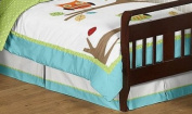 Turquoise and Lime Hooty Owl Bed Skirt for Toddler Bedding Sets by Sweet Jojo Designs