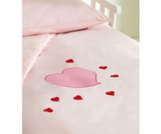 Saplings Cot Bed Duvet Cover And Pillowcase - Young Hearts