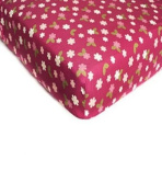 """Li'l Kids """"Butterfly Blossoms"""" Fitted Sheet - colours as shown, one size"""