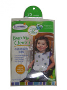 Summer Infant, Clean & Green, Disposable Bibs, 20 Count