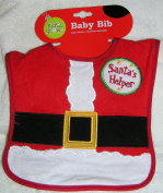 Santa's Helper Christmas Baby Bib
