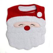 Santa's Face Side-Close Bib, Frenchie Mini Couture