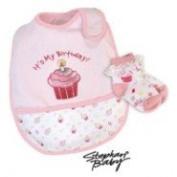 It's My Birthday Bib and Sock Set-Pink