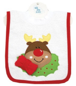 Reindeer Pullover Bib with Washcloth