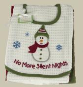 C & F No More Silent Nights Bib & Burp Cloth Set