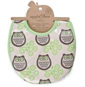 Apple & Bee Baby Bib - Owl