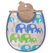 Apple & Bee Baby Bib - Elephant