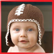 Football Hat Brown for 6-12 months