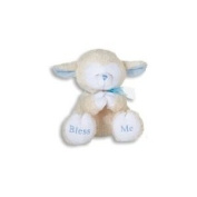 """PRAYING LAMBS-20.3cm /BLUE/Plays """"Now I Lay Me Down to Sleep""""/Baby Shower/New Baby"""