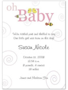 Oh Baby Girl Birth Announcements - Set of 20