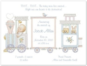 Baby Train Birth Announcements - Set of 20