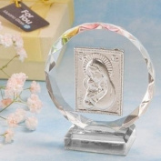 Exquisite Madonna And Child Crystal Plaque