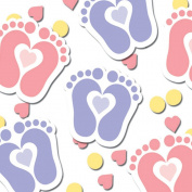Tiny Toes Pink Printed Confetti
