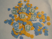 Tiny Toes Blue Printed Confetti