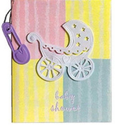 Carriage Dangler Baby Shower Invites and Envelopes