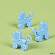 Pastel Blue Baby Carriage Baby Shower Favours