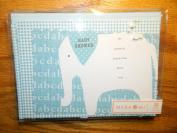 Mara Mi Blue Elephat Baby shower invitations - 10 with envelopes