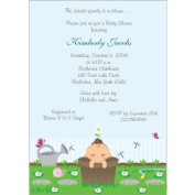 Little Sprout Baby Shower Invitations - Set of 20