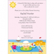 Beach Time Baby Shower Invitations - Set of 20