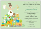 Toy Time Baby Shower Invitations - Set of 20