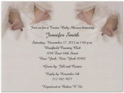 Twin Toes Baby Shower Invitations - Set of 20