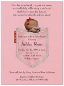 Pink Jean Mouse Baby Shower Invitations - Set of 20